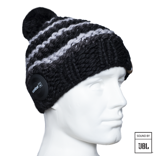 Bluetooth® Pompon Beanie JBL® Black-Grey