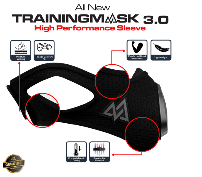 Training Mask 3.0 Sleeve Black Splatter
